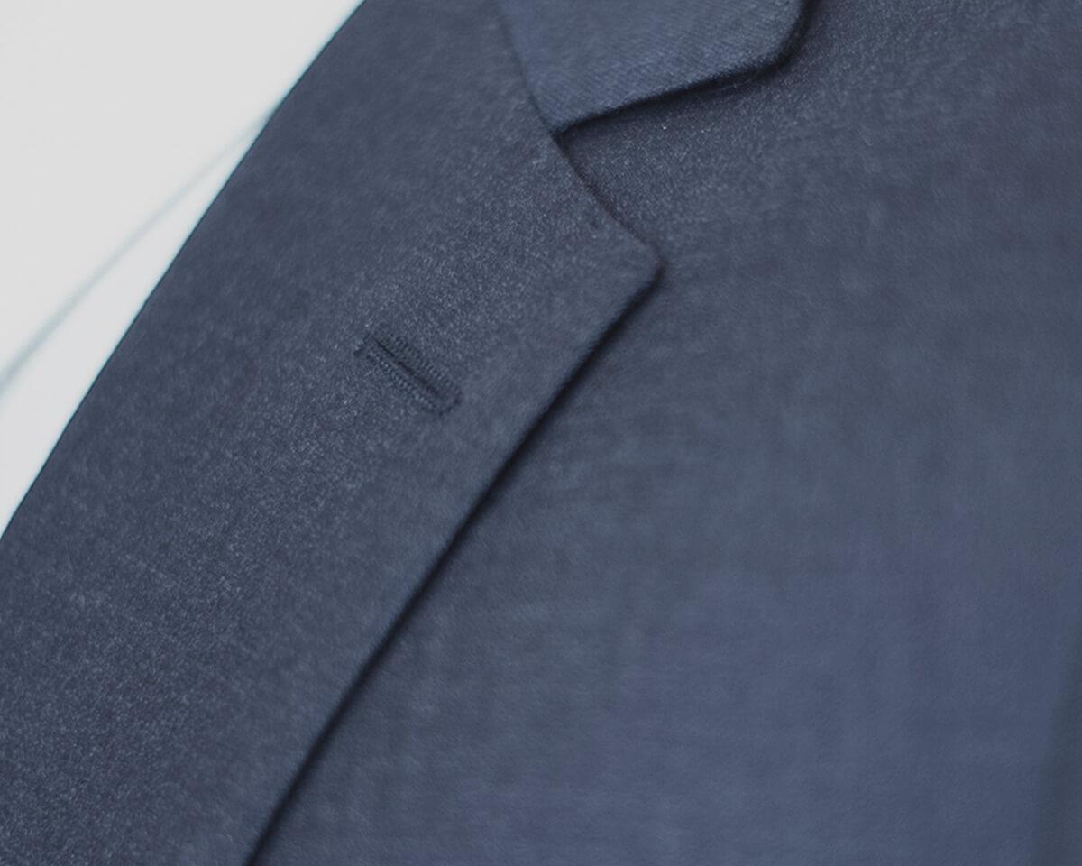 Byron Classic Fit Suit Medium Sharkskin Blue Gary