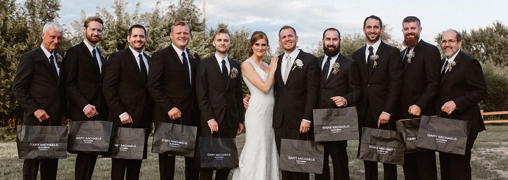 Tan Wedding Suit - Wedding Photography